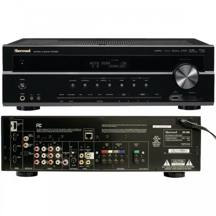 SHERWOOD RD606I 500-Watt Networking 3D-Ready A/V Receiver