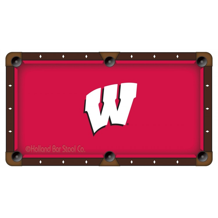 Wisconsin Badgers 7' Pool Table Cloth