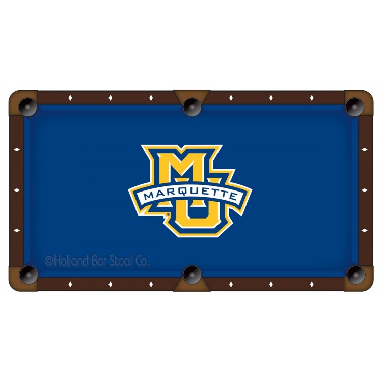 Marquette Golden Eagles 8' Pool Table Cloth