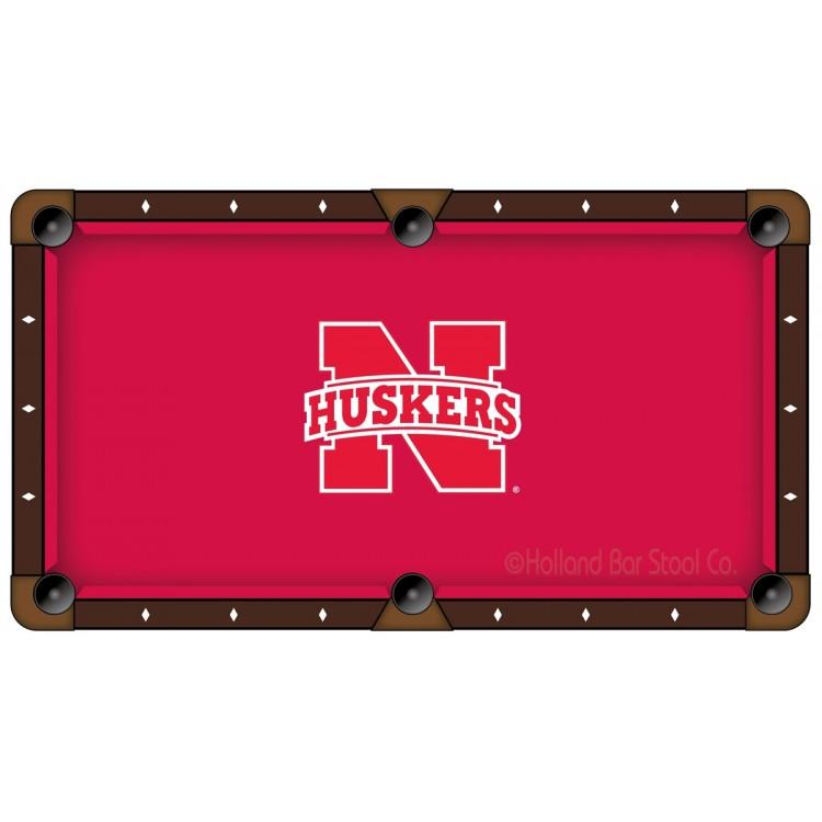 Nebraska Huskers 9' Pool Table Cloth