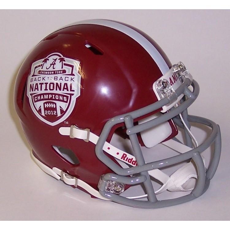 Alabama Crimson Tide 2012 National Champs Riddell Speed Mini Football Helmet