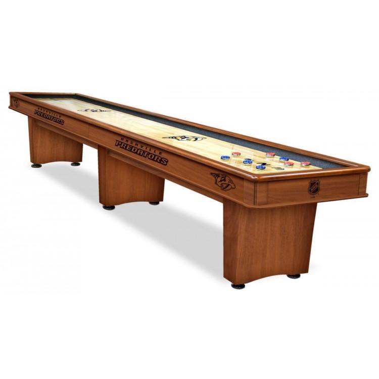 Nashville Predators 9' Chardonnay Shuffleboard Table