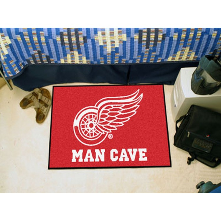Detroit Red Wings Man Cave Starter Rug