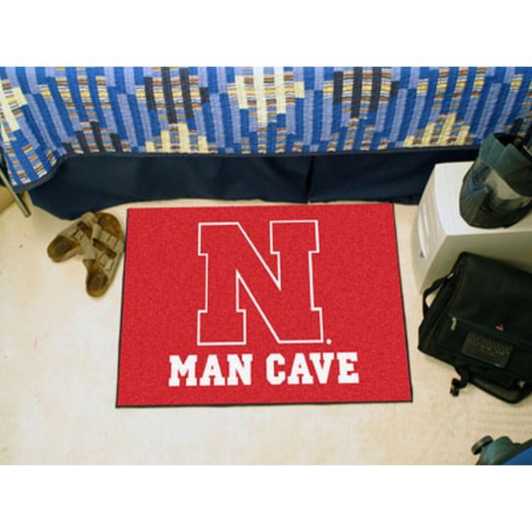 University of Nebraska Man Cave Starter Rug