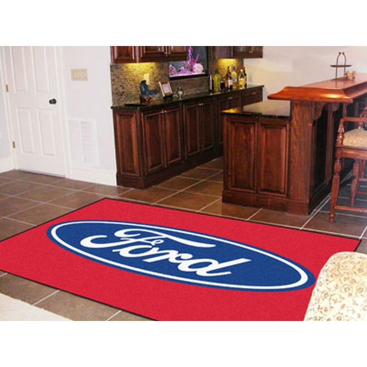 Ford - Ford Oval 5x8 Rug