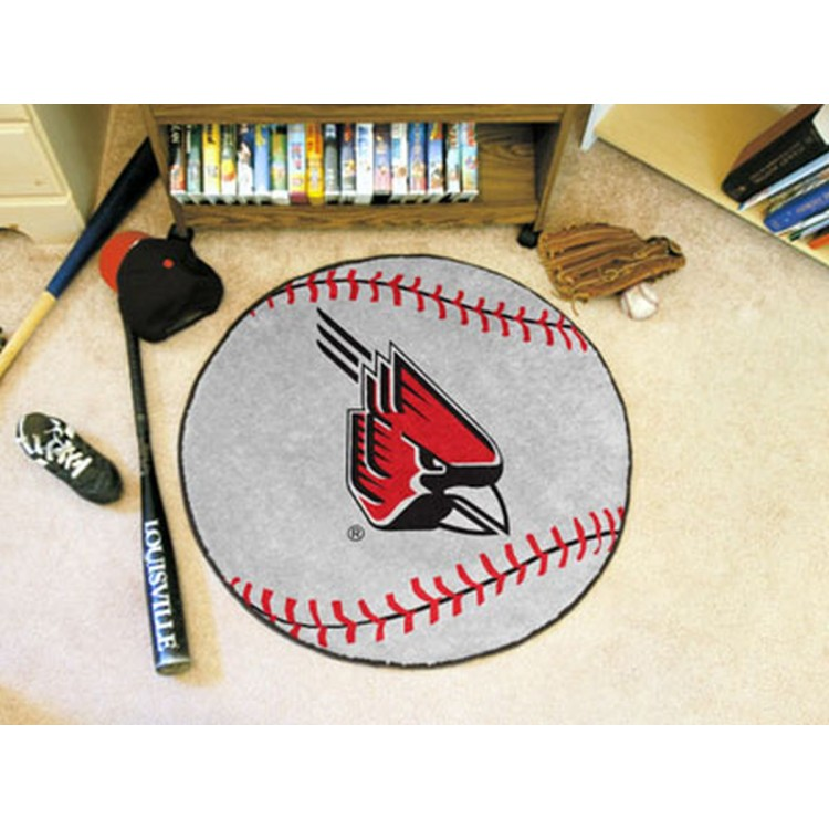 Ball State Cardinals Baseball Mat