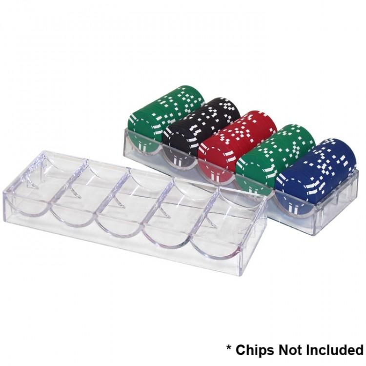 10 Clear Acrylic Poker Chip Racks