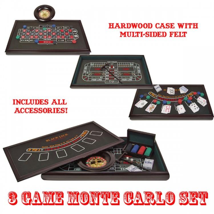3 in 1 Monte Carlo Casino Set