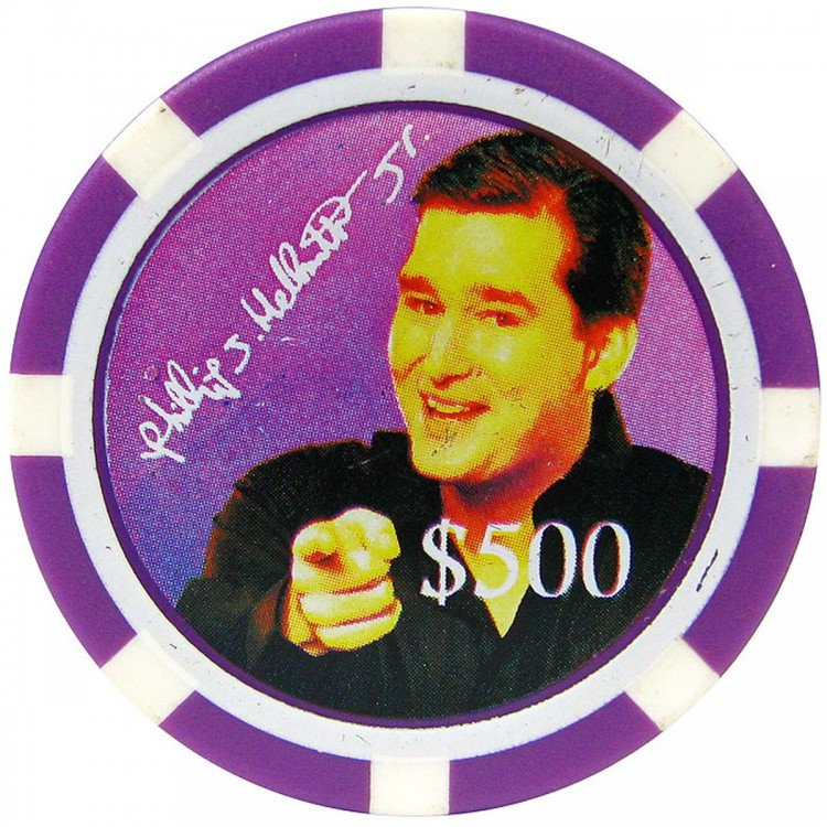Phil Hellmuth Jr. Limited Edition $500 Purple 11.5g Chip