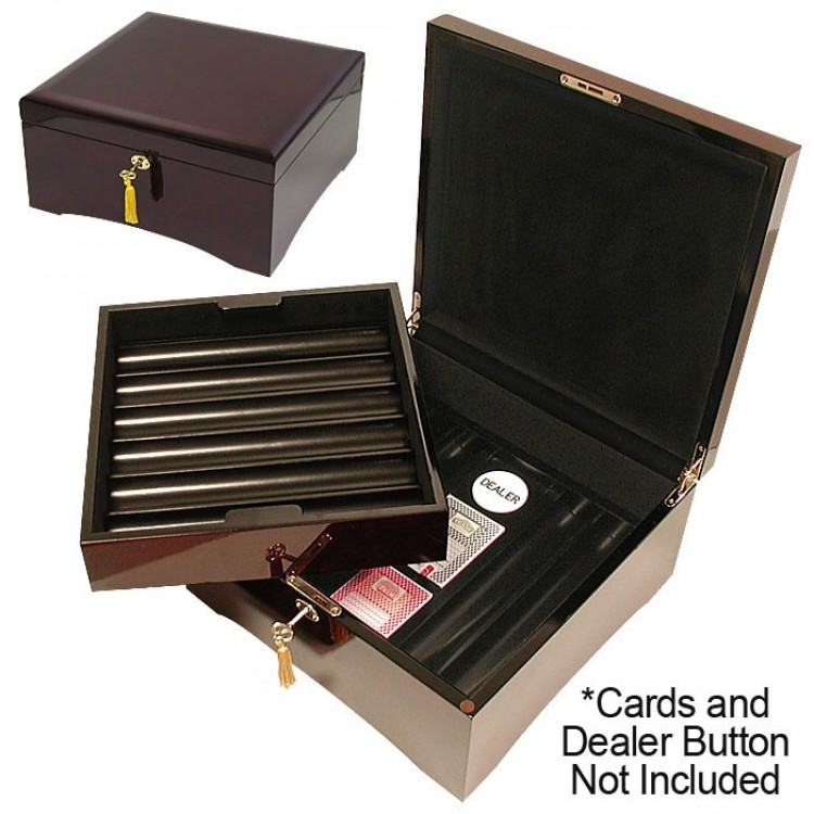 SPECIAL BUY 750 Wooden Chip Case High Lacquer Finish