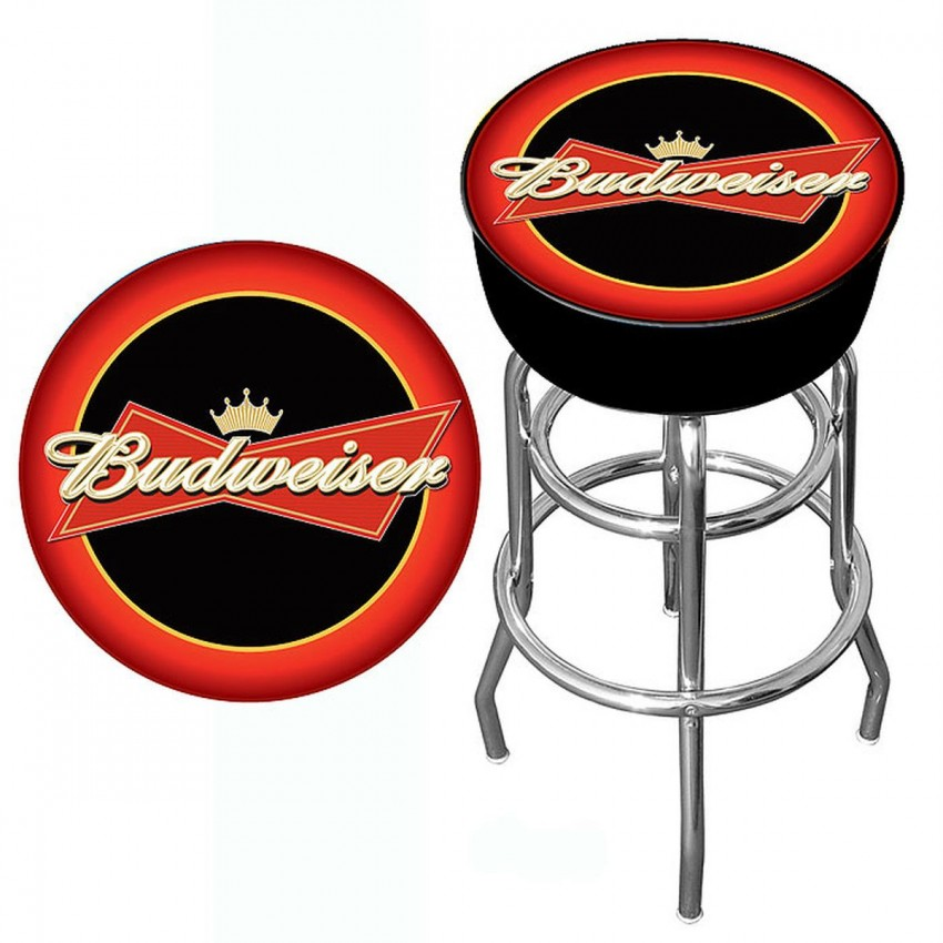 promo code d14b2 5eb64 Budweiser Bowtie Red/Black Bar Stool