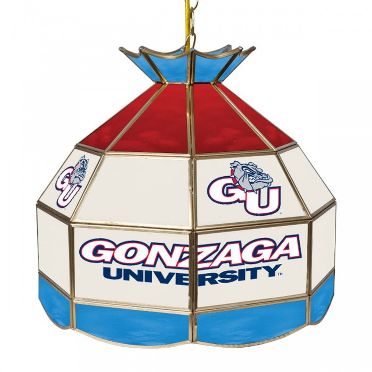 Gonzaga Bulldogs Stained Glass 16 Inch Tiffany Lamp