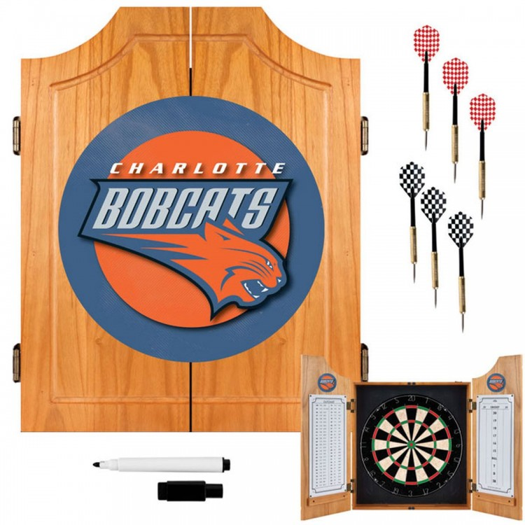 Charlotte Bobcats NBA Wood Dart Cabinet Set