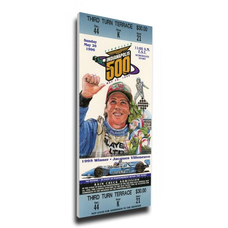 1996 Indianapolis 500 Canvas Mega Ticket - Buddy Lazier