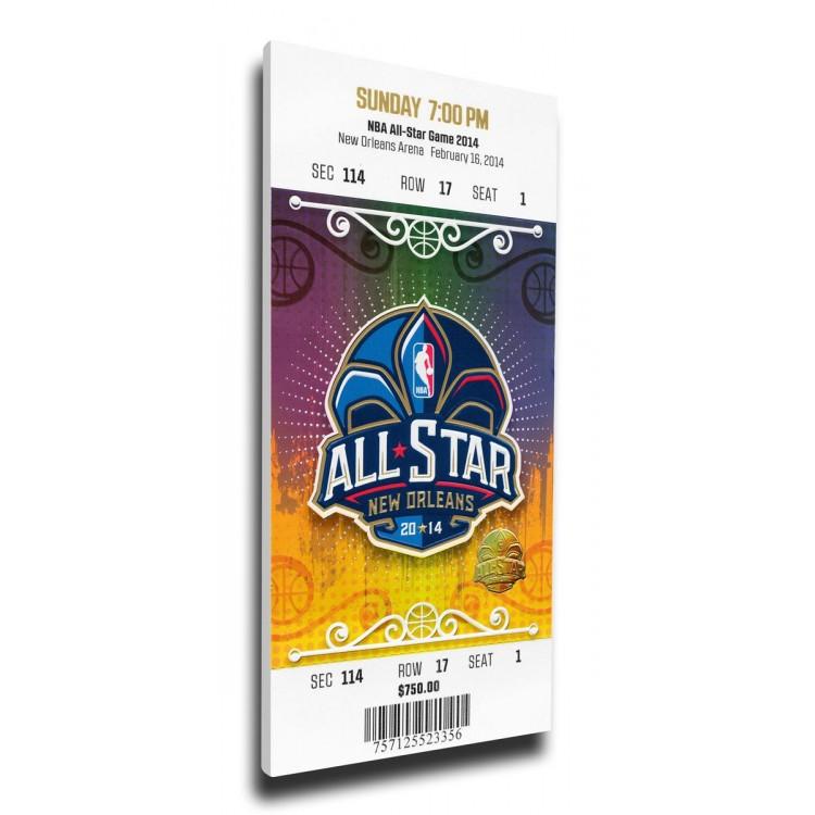 2014 NBA All-Star Game Canvas Mega Ticket, Pelicans Host - MVP Kyrie Irving, Cavaliers