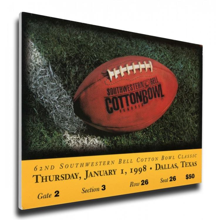 1998 Cotton Bowl Canvas Mega Ticket - UCLA Bruins