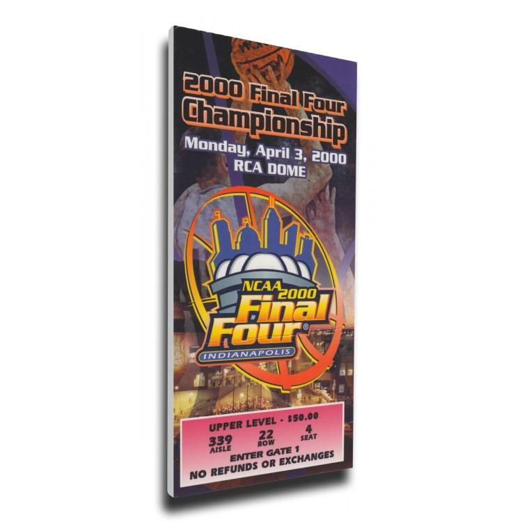 2000 Final Four Canvas Mega Ticket - Michigan State Spartans