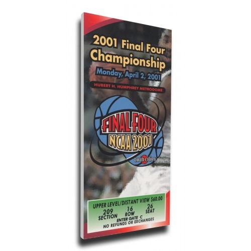 5e5926f8 2001 Final Four Canvas Mega Ticket - Duke Blue Devils