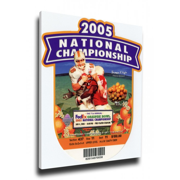 2005 BCS National Championship Game Canvas Mega Ticket - USC Trojans