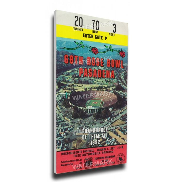1982 Rose Bowl Canvas Mega Ticket - Washington Huskies